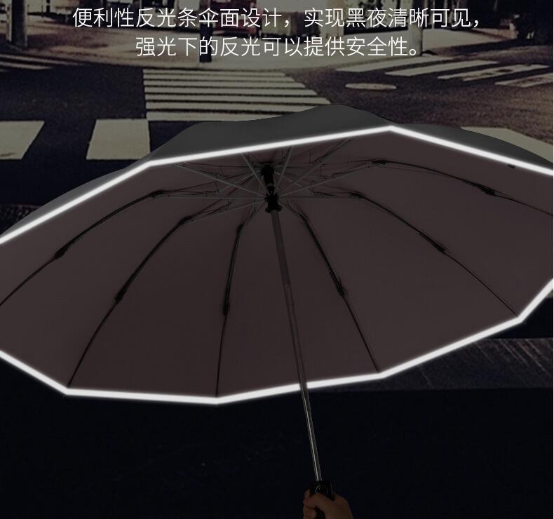 反光条伞面设计