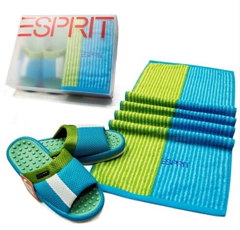 ESPRIT毛巾拖鞋礼盒SP-多样屋牡丹办公杯图片