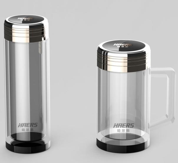 哈尔斯保温杯广告_哈尔斯尊享至臻玻璃杯HBL-300-57/ HBL-350B-广州礼域礼品公司